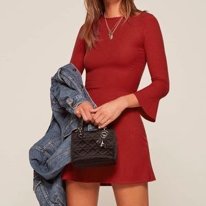 REFORMATION RED anice dress